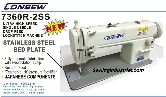 CONSEW 7360R-2SS Free Shipping Continental US