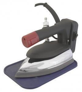 SAPPORO SP-90A Gravity Feed Steam Iron. Water Bottle, Demineralizer. Iron Rest, Teflon Iron Shoe Included.