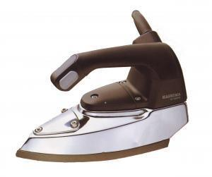 HASHIMA HI-350PS Gravity Feed Steam Iron. Water Bottle, Demineralizer. Iron Rest, Teflon Iron Shoe Included.