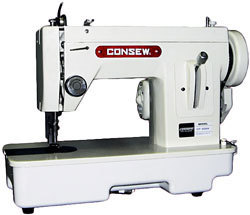 CONSEW CP206RL PORTABLE WALKING FOOT MACHINE with 9 INCH WORK SPACE