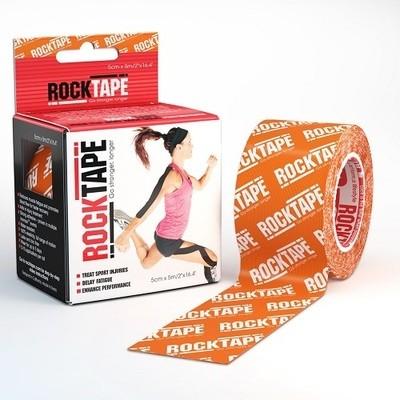 Кинезиотейп RockTape 5см х 5м, Orange logo