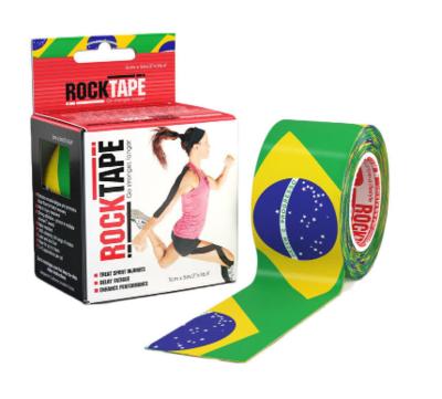 Кинезиотейп RockTape 5см х 5м, Brazil Flag