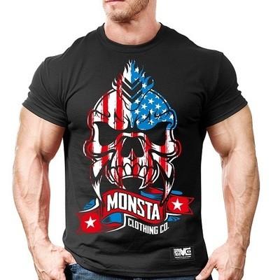 Спортивная футболка Monsta USA Skull-256
