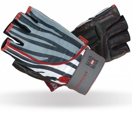 Женские тренировочные перчатки MADMAX Nine-Eleven Zebra