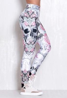 Лосины женские Rock Code Legging Elastic Kind Skull