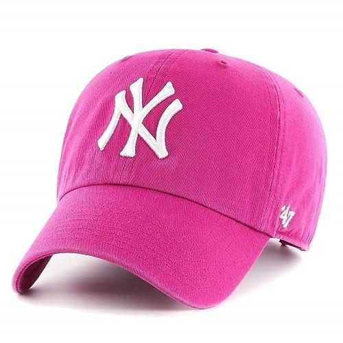 Женская кепка 47 Brand Pink Yankees