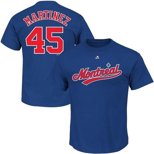 Мужская футболка Majestic Pedro Martinez 45 Monreal