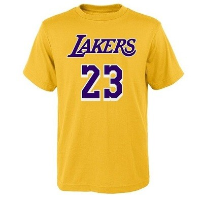 Мужская футболка NBA James 23 Lakers Yellow