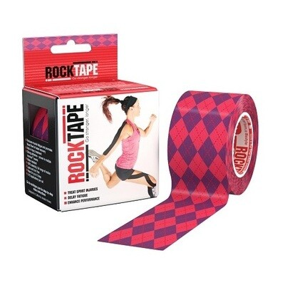 Кинезиотейп RockTape 5см х 5м, розовый узор