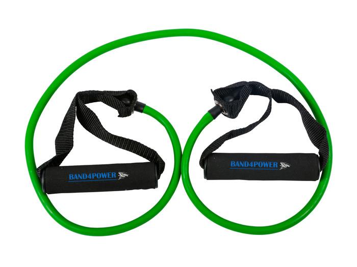Трубчатый эспандер слабая нагрузка (зеленый) Band4Power