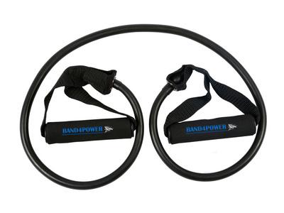 Трубчатый эспандер сильная нагрузка (черный) Band4Power