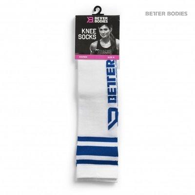 Гольфы Better Bodies Knee Socks, White/Blue