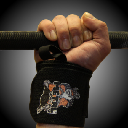 80 см кистевые бинты METAL Black Wrist Wraps (IPF approved)