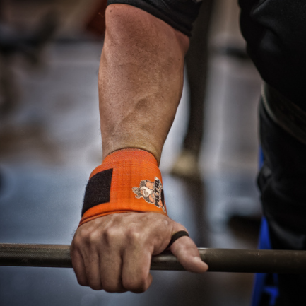 40 см кистевые бинты METAL Orange Wrist Wraps (IPF approved)