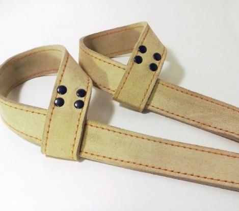 Лямки для тяги FITSAFE 2 слоя (кожа)