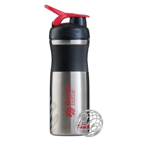 Шейкер BlenderBottle® SPORTMIXER® STAINLESS, Black/Red