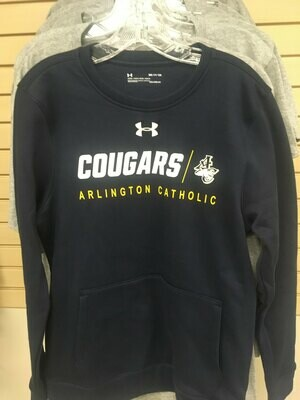 Navy UA Crew Neck Sweatshirt