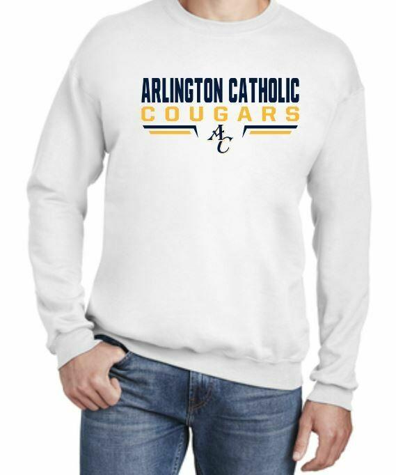 New! AC White Crew Neck Sweatshirt