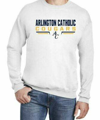 New! AC White Crew Neck Sweatshirt