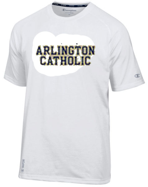 White Tee Shirt with Arlington Catholic