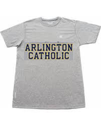 Gray Tee Shirt with Arlington Catholic
