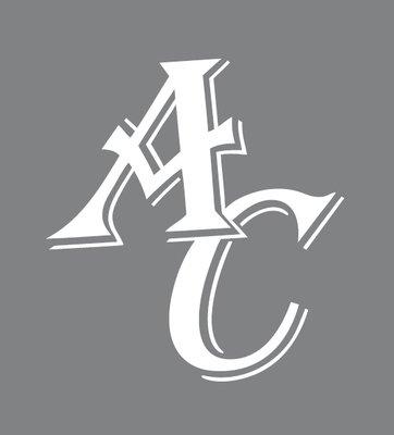 AC Clear Car Sticker with White AC