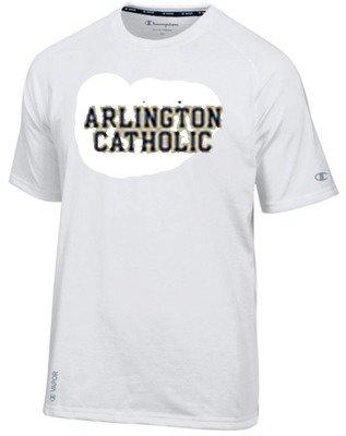 White Tee Shirt with Arlington Catholic
