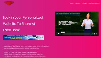 Astro Bid Personalized Video Web Page.