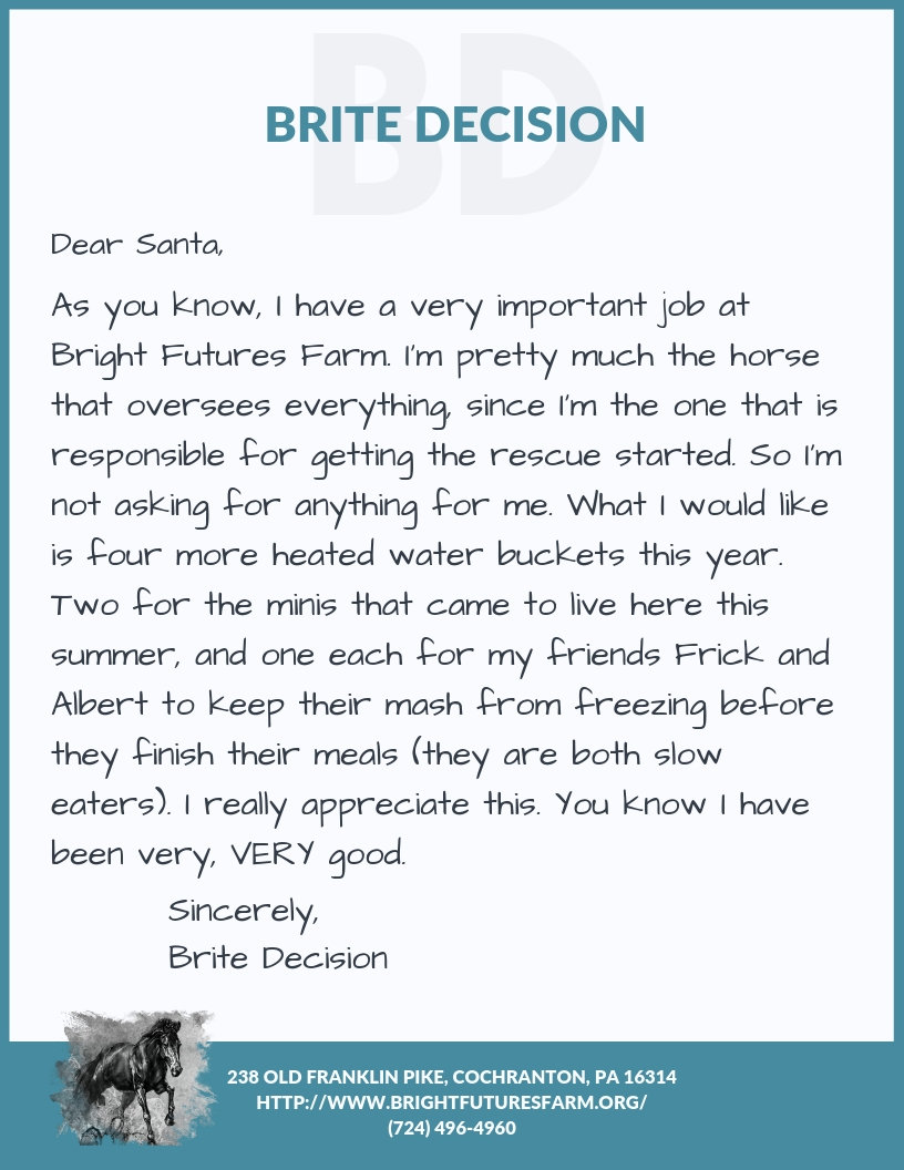 HEATED WATER BUCKETS FOR BRITE DECISION