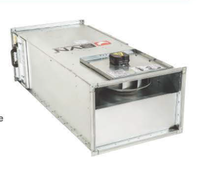 BSH 40-25 Прямоугольный канальный вентилятор с назад загнутыми лопатками 400 м3/час  BVN