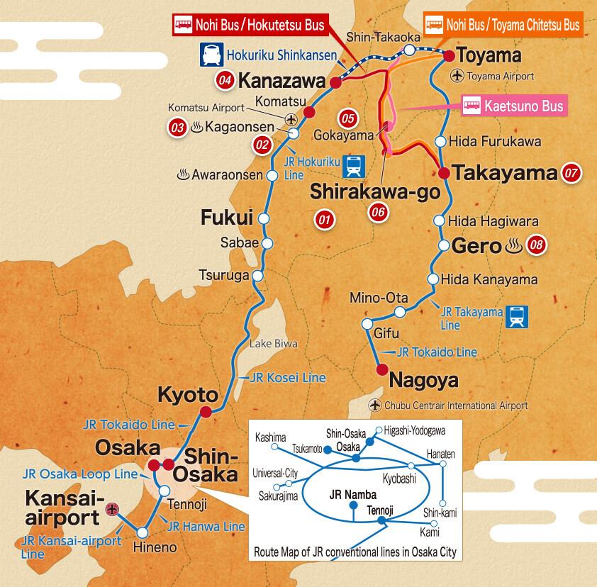 Takayama Hokuriku Area Tourist 5 Days Pass