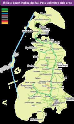 East South Hokkaido Flexible 6 Days Pass