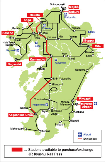 Kyushu Rail Pass  3 & 5 Days  *e-Ticket