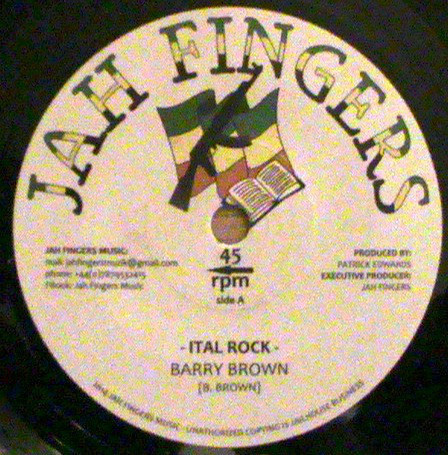 "Barry Brown - Ital Rock 7"""