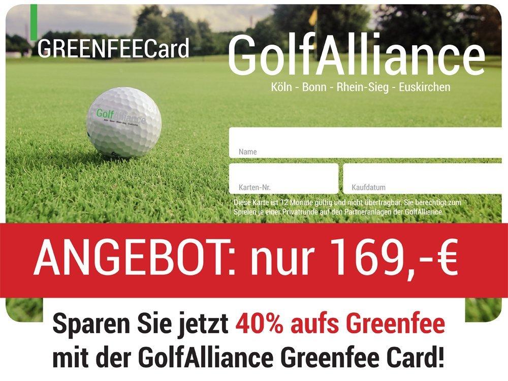 GolfAlliance Greenfee Card - 5 Anlagen spielen für 169,- EUR
