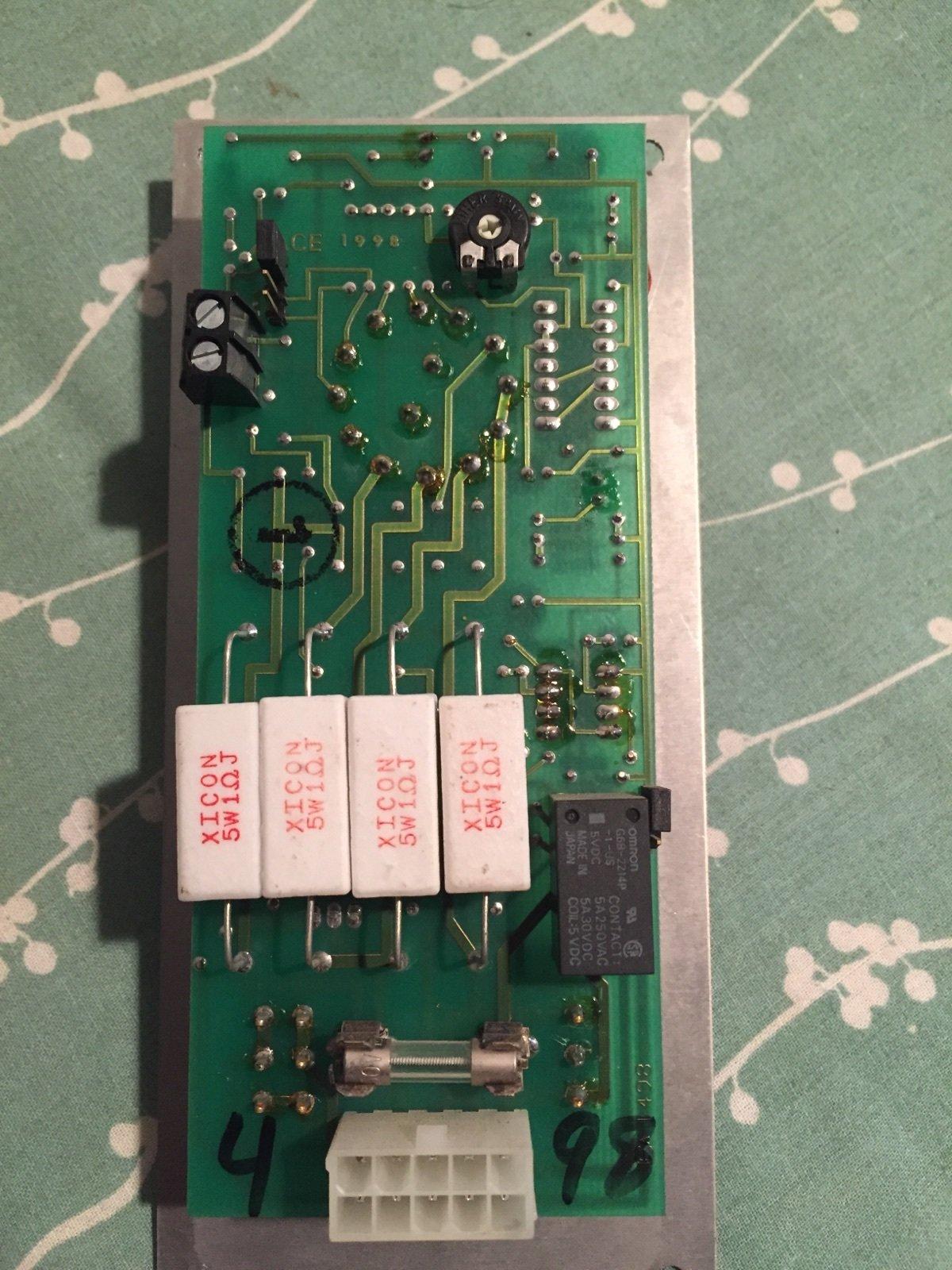 Acutron III control board - Repair CD0048-A