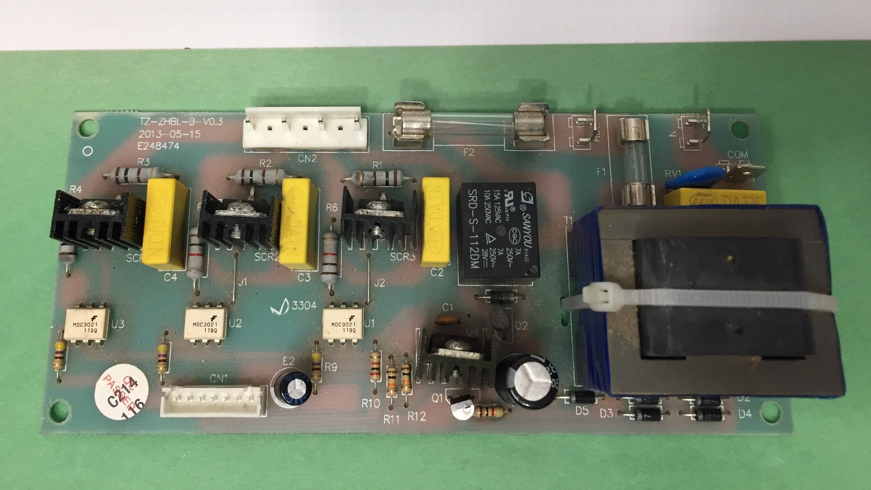 US Stove Company (USSC) Ashley 5660 Control Board - Repair TZ-ZHBL-B-V0.3