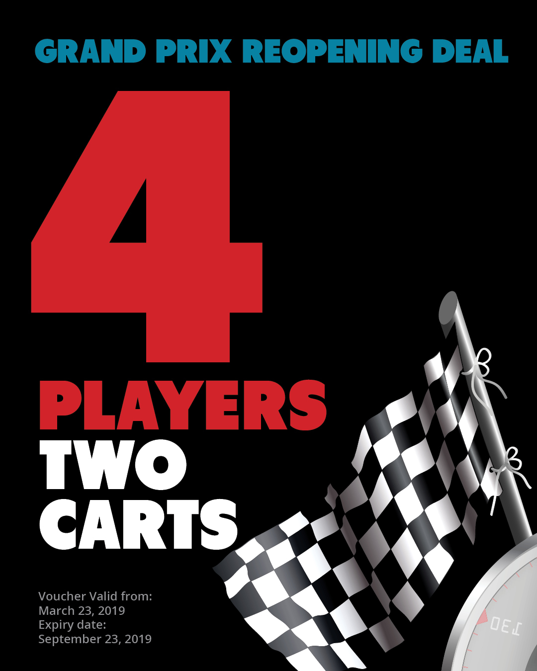 SPECIAL | Golf for 4 players with 2 carts 19GP4PLAYERS