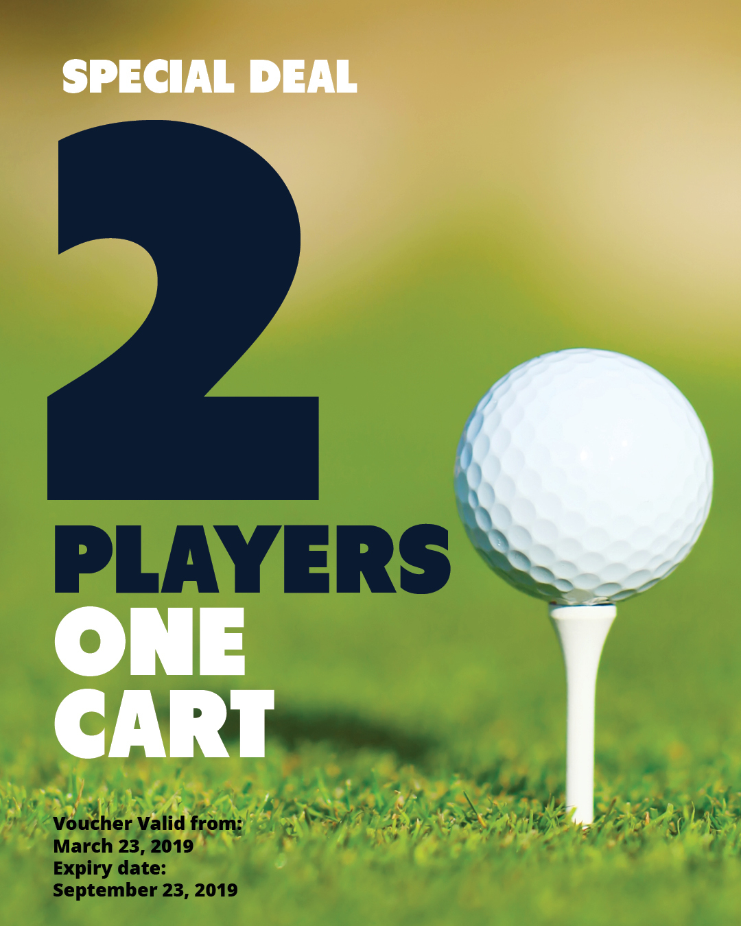SPECIAL | Golf for 2 players with 1 cart SP2P1Cart