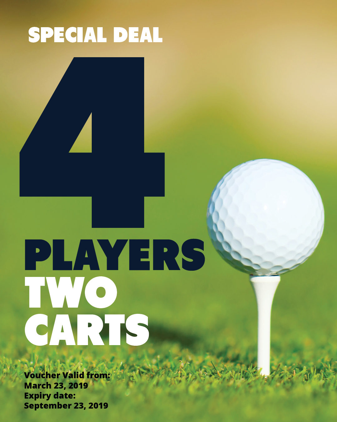 SPECIAL | Golf for 4 players with 2 carts SP4P2Carts