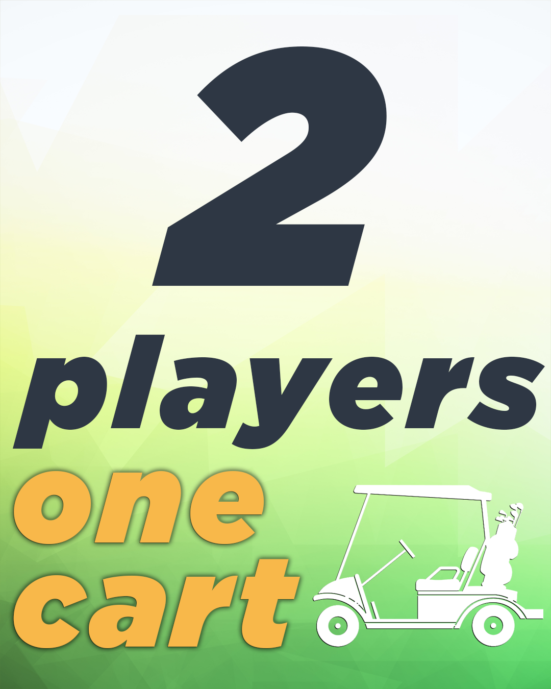 2 Players & Golf Cart 2PGC