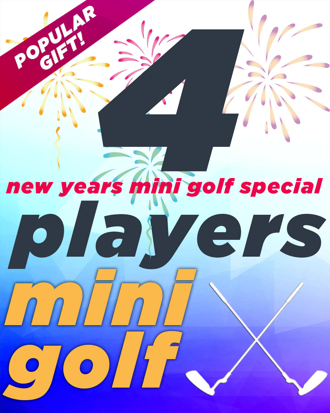 New Years Special – 4 Players 40% OFF
