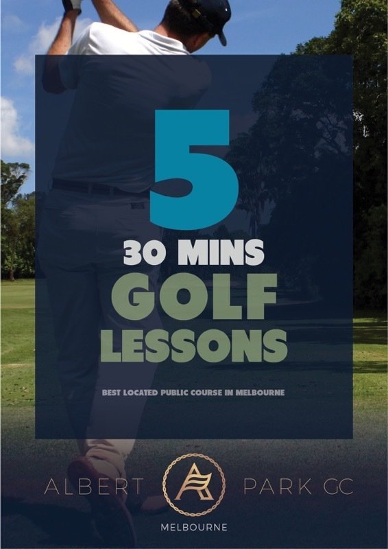 5 x Private Golf Lesson Package (30 Minutes) 5GL30MINS