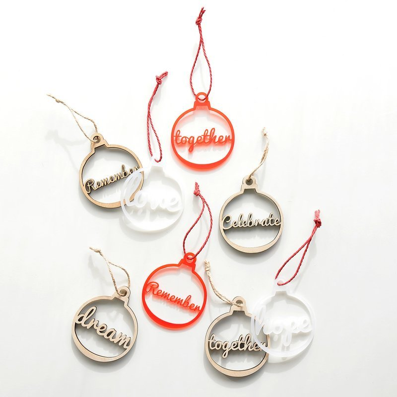 Christmas Decorations - Words Set