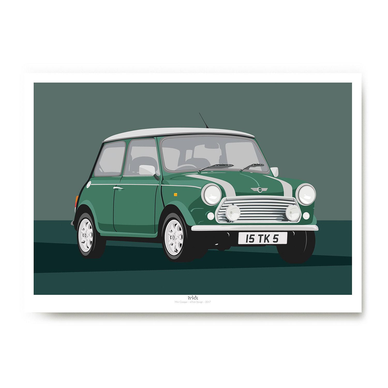 Mini Cooper Art Print