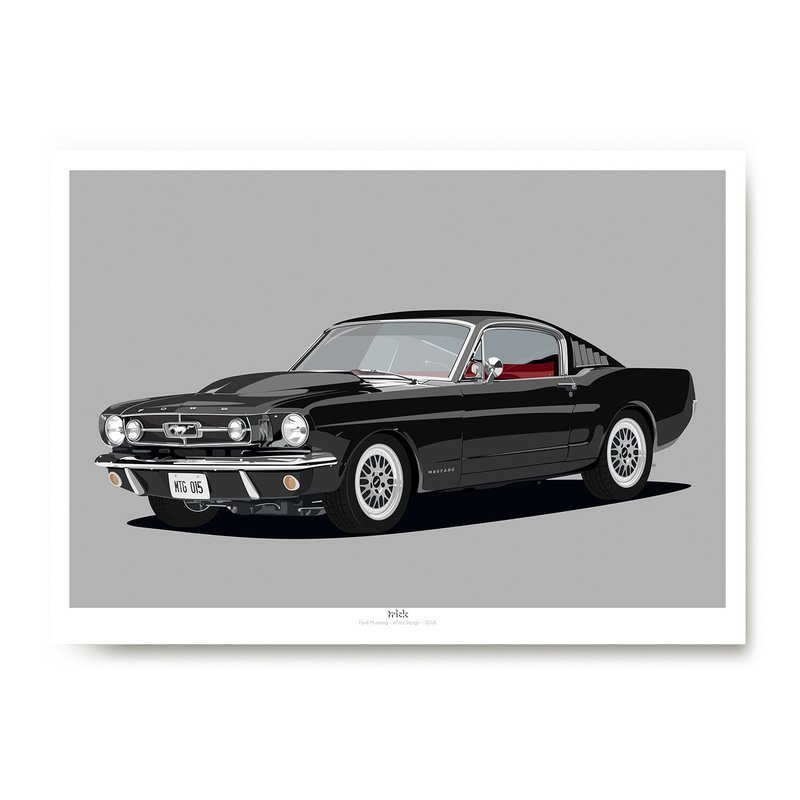 Ford Mustang Art Print