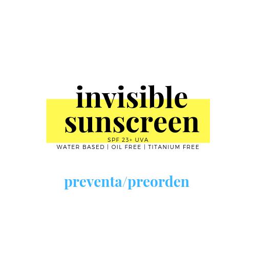 INVISIBLE SUNSCREEN™ Protector Tipo Japonés Acuoso SPF23 + UVA
