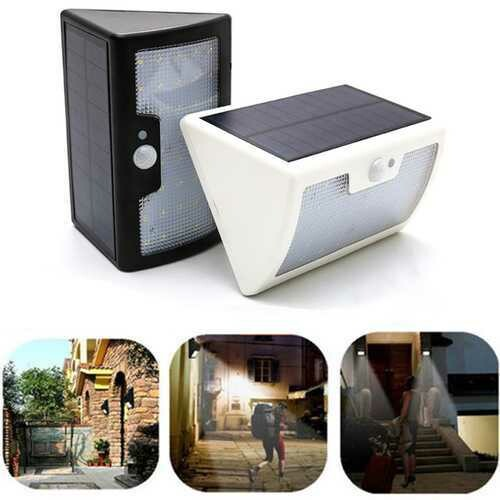 6W Solar Powered 40 LED 6 Modes PIR Motion Sensor Remote Control Dimmable Wall Light Waterproof