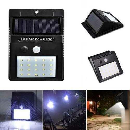 Solar Power 20 LED PIR Motion Sensor Waterproof Wall Light Outdoor Garden Security Lamp