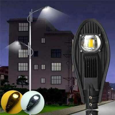 30W LED Warm White/White Road Street Flood Light Outdoor Walkway Garden Yard Lamp DC12V